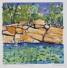 Greg MALLYON Tropical Rockpool original signed print art abstract wall