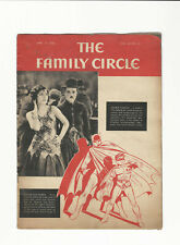 FAMILY CIRCLE - RARE BATMAN & ROBIN COVER  1942 - FLASH, WONDER WOMAN INSIDE