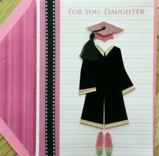 Beautiful Papyrus Graduation Card - For Daughter,  Cap & Gown, Glitter & Jewels