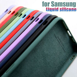For Samsung S20 FE Note 20 Ultra S20 S10 A71 A51 Liquid Silicone Soft Case Cover