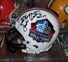 JACKIE SMITH Signed HOF Mini Helmet Autograph w/ COA Nice AUTO Cardinals Cowboys