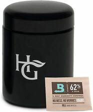 Herb Guard - Half Oz Smell Proof Stash Jar (250 ml) Comes with Humidity Pack