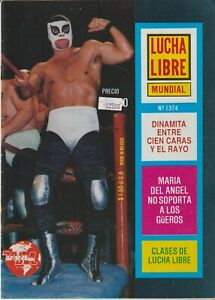 Lucha Libre Mundial #1374 Mexican Wrestling 1990 Good Condition Spanish