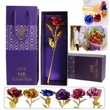 Rose Éternelle Pétales Plaqué Or 24K Fleurs Artificielles Séchées Fête Des Mères