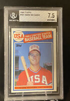 MARK MCGWIRE RC ROOKIE CARD BGS 1985 TOPPS #401 US BASEBALL TEAM 1984
