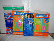 4 Stretchable - Fabric Book Covers - Jumbo / Standard Size