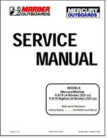 Mercury Mariner 9.9 / 15hp  4 Stroke OEM Service Shop Repair Manual On CD