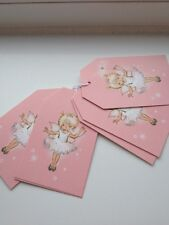 M&S fairy gift box tag baby pink white girls p.of 6 BNWT NEW all occasions :