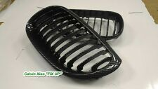 MIT CARBON LOOK FRONT KIDNEY GRILLE BMW E60 5 SERIES 2003-2010