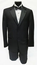 60 Long New Mens Designer Calvin Klein 2 Button Wool Tuxedo Jacket Big & Tall