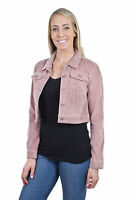 Women's Juniors Fashionable Cropped Corduroy Long Sleeve Jacket