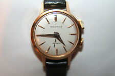 RARE MOVADO Alarm Watch Ladies 18K Yellow Gold Running
