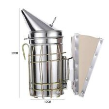 Stainless Steel Bee Hive Smoker Large Smoke Transmitter Apiculture Fume Machine