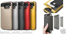 Slide Armor Tough Card Cover for Samsung Galaxy S4 S5 S6 Edge+ Plus Note 5 4 3