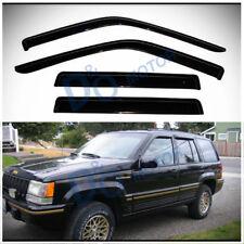 4pcs Smoke Tint Sun/Rain Guard Vent Shade Window Visors Fit 93-98 Grand Cherokee