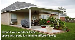 Aluminum Flat Patio Cover - Any Size    Complete DIY Kit    Pricing per SQ Foot
