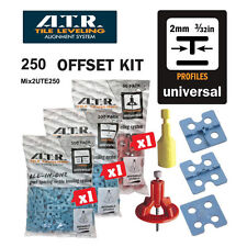 ATR Tile Leveling Alignment System 2mm OFFSET DIY KIT Use for Floors and walls