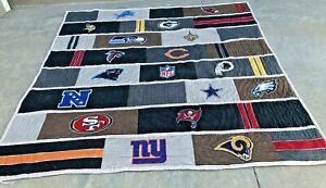 Pottery Barn Teen NFL Blanket Quilt Throw Bedspread Full Queen Football NFC w