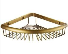 Wall Mounted Antique Bath Brass Shower Caddy Basket Triangle Storage Shelves