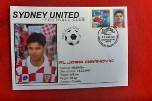 2001 SYDNEY UNITED FOOTBALL CLUB ALJOSA ASANOVIC P-STAMP FIRST DAY COVER SOCCER