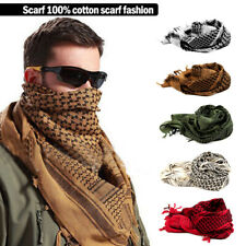 Military Army Shemagh Tactical Desert Keffiyeh Scarf 100% Cotton Scarves Roman !