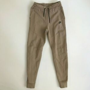 Nike Mens Small Tall Sportswear Tech Fleece Slim Taper Washed Jogger Pants Taupe