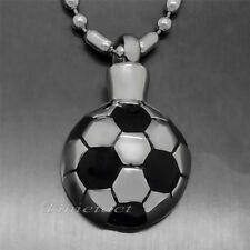 Football Soccer Cremation Keepsake Jewelry Memorial Urn Pendant Necklace P016