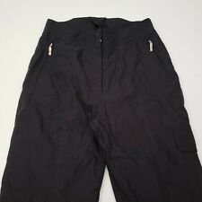 Obermeyer Women's Snow Ski Pants Size 12 Northern Lights Arctic Insulated Black