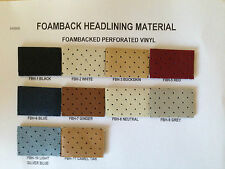 1979 CAMARO/FIREBIRD FOAM BACKED PERFORATED VINYL HEADLINER MATERIAL, ANY COLOR