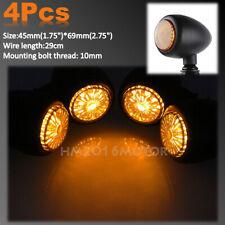 4x Universal 12V Motorcycle Bike LED Turn Signal Blinkers Light Indicators Amber