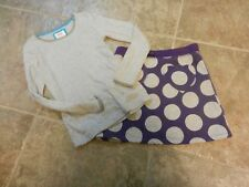 2 piece girls Mini Boden outfit skirt top size 11-12 y