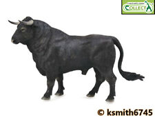 CollectA BLACK SPANISH FIGHTING BULL solid plastic toy farm pet animal  NEW 💥
