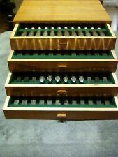 WMF / Zwilling (90) Silber 68 Teile Besteck Set Holzkasten Vintage