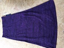 Roz & Ali Purple/black Maxi skirt NWT Petite Medium