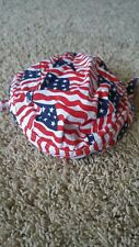 USA US FLAG Multi Tossed AMERICAN FITTED TIED BANDANA Head Cap DOO RAG lined NEW