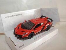"Lamborghini Veneno Orange Die Cast Metal Model Car 5"" New In Box"