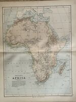 1870 Physical Map of Africa by Edward Weller Original Antique Map