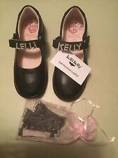 LELLI KELLY LK ELLIE 2 Girls SHOES Size 26 F BLACK LEATHER+ Free Gifts