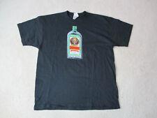 VINTAGE Jagermeister Shirt Adult Extra Large Black Green Vodka Mens 90s