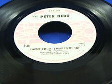 """PETER NERO - Theme From """"Summer Of '42"""" / Brian's Song - NEAR MINT- 2 Hits For 1"""