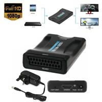 1080P Scart To HDMI Converter Audio Video Adapter For HD TV Sky Box STB DVD