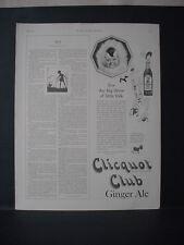 1924 Clicquot Club Ginger Ale Soda Kids enjoy it Vintage Print Ad 11723