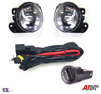 VW T5 TRANSPORTER POLO 9N FRONT FOG LIGHTS LAMPS L/R + WIRING + HEADLIGHT SWITCH
