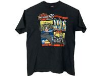 Vintage Mens Harley Davidson Tshirt Size XL - The York Museum 90th Anniversary