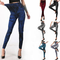 Women High Waist Skinny Jeggings Jeans Stretch Pencil Pant Long Slim Trousers