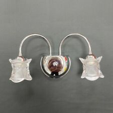 NEW BEAUTIFUL MODERN CRYSTAL STYLE WALL LIGHT IN POLISHED CHROME UK STOCK