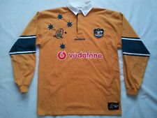 VINTAGE REEBOK 1899-1999 100TH ANNIVERSARY WALLABIES RUGBY JERSEY IN SIZE L