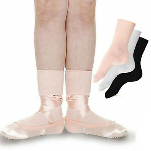 Roch Valley LBS Ballet Dance Gymnastics Dancewear Exam Girls Boys Ankle Socks