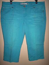 Juniors teal/aqua True Freedom fashion skinny capri/cropped jeans (sz 17) EUC
