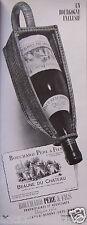PUBLICITÉ 1956 BOURGOGNE BEAUNE DU CHATEAU - BOUCHARD PÈRE & FILS - ADVERTISING